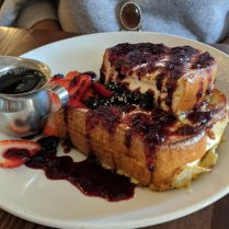 Stuffed French Toast at Eggy's