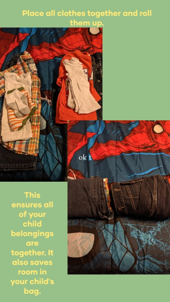 How to pack children clothes