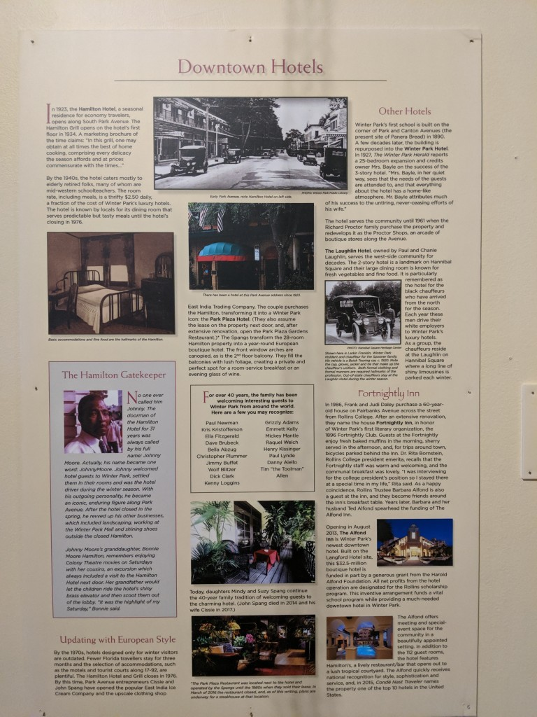Winter Park Historical Hotel Exhibit